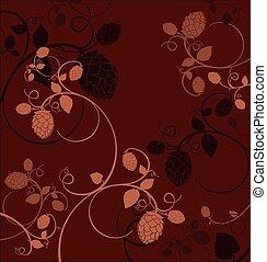 hop flowers composition. - Stylized hop flowers composition ...