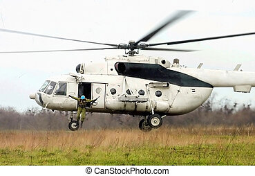 hop, helicopter, faldskærmsjægere