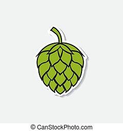 Hop icon isolated on white background