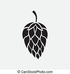 Hop icon isolated on white background