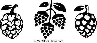 Hop icon on white background