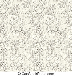 Hop seamless pattern.  illustration.