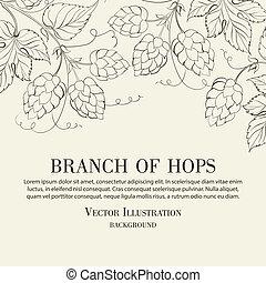 Hop. Vector illustration.