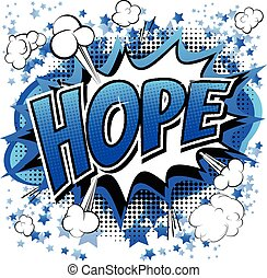 Hope - Comic book style word.
