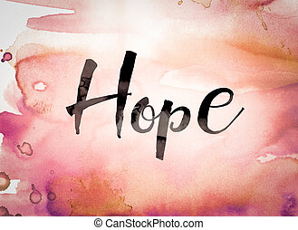 Hope Concept Watercolor Theme