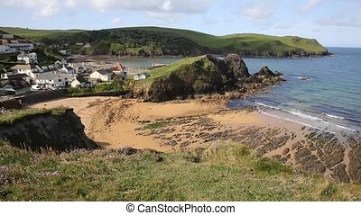 Hope Cove beach Devon UK summer - Thurlstone, attraction,...