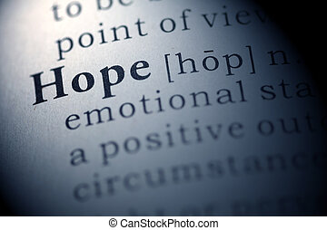 Hope - Dictionary definition of the word hope.