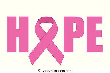 Hope emblem with pink ribbon symbol
