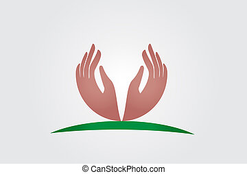 Hope hands logo vector