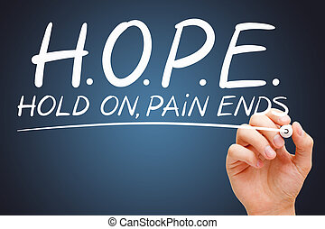 HOPE Hold On Pain Ends Acronym Concept