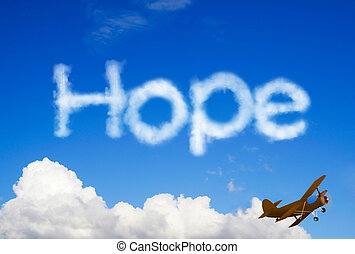 Hope message in the sky
