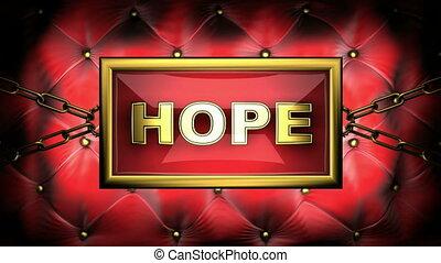 hope on velvet background