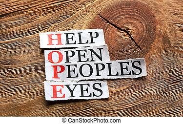 hope open eyes