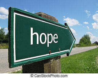 HOPE road sign