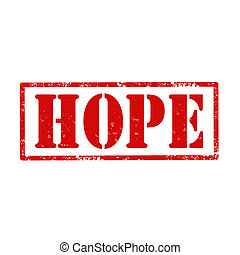Hope-stamp - Grunge rubber stamp with text Hope,vector...