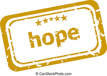 hope stamp isolated on white background