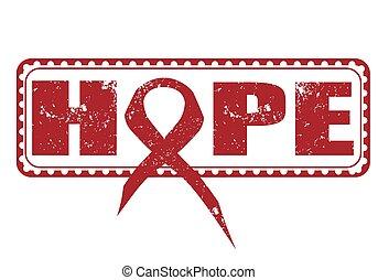 hope stamp - hope grunge stamp with on vector illustration