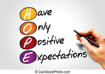 HOPE, business concept acronym