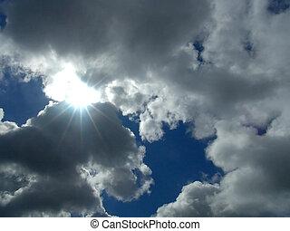 Hope - Sun peeking through break in clouds