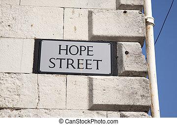 Hope Street Sign, England, UK
