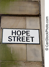 Hope Street Sign, Manchester