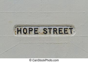 Hope street, sign