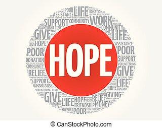 HOPE word cloud collage