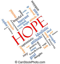 Hope Word Cloud Concept Angled