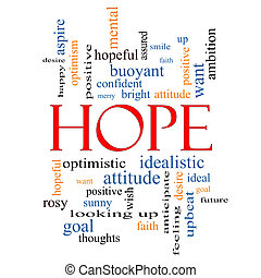 Hope Word Cloud Concept with great terms such as optimistic, goal, wish and more.
