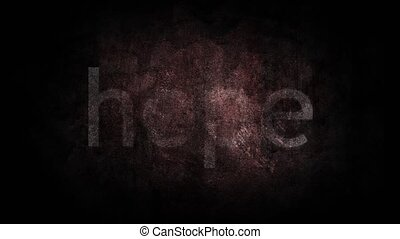 Hope written on an old grunge background