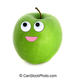 Hopeful apple isolated over white background