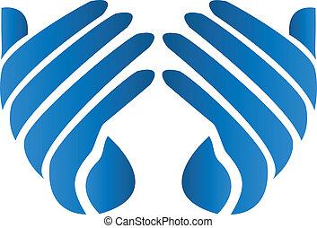 Hopeful hands vector logo - Hopeful hands vector icon