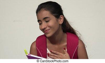 Hopeful Teen Female Student