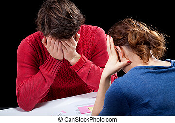 Hopeless financial situation - Depressed people in a ...