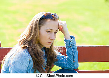 Hopeless - Young girl feeling unhappy because the loss