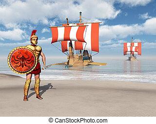 hoplites, galleys