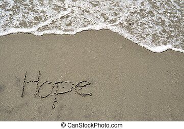 hopp, i sandet
