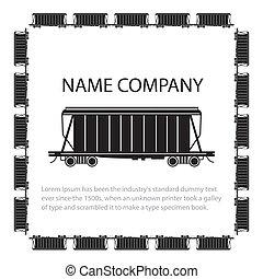 Hopper Car - Invitation card with american style hopper car,...