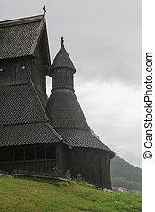 Hopperstad Stave Church - The Hopperstad stave church near...