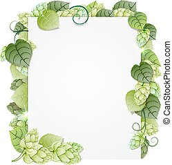 Hops branch abstract frame