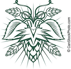 Hops Emblem - Hops-themed ornament