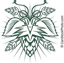 Hops-themed ornament