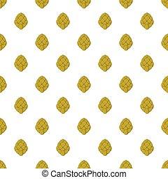 Hops pattern, cartoon style