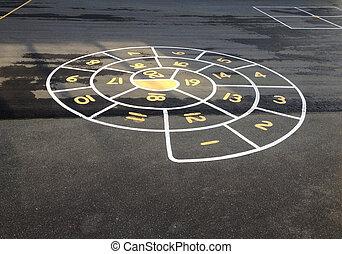 hopscotch, circular
