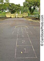 Hopscotch grid points to gate