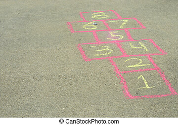Hopscotch - The sidewalk drawing game board of the childhood...