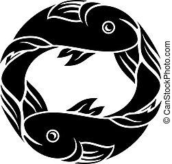 horóscopo, peixe, sinal, peixes, signos, astrologia