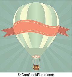 Hor air balloon - Hot air balloons in the sky. Vector...