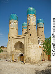 ?hor-Minor minaret, Bukhara, Uzbekistan