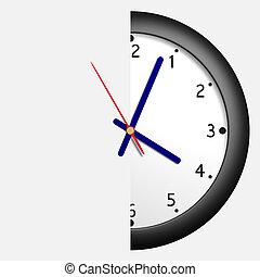 hora, mitad
